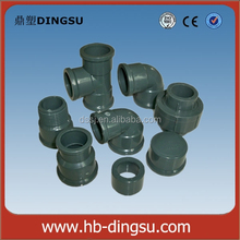 Plastic pipes and fittings PVC for water flow