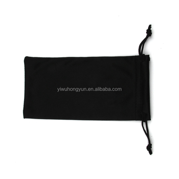 Wholesale glasses bags microfiber draw string pouch custom logo cheap bag