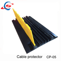 yellow pvc cover 5 channel flexible rubber cable protector