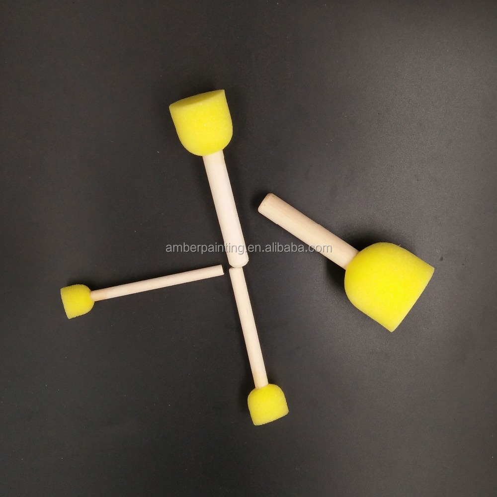 4 size of painting brush kit yellow painting brush roller for child