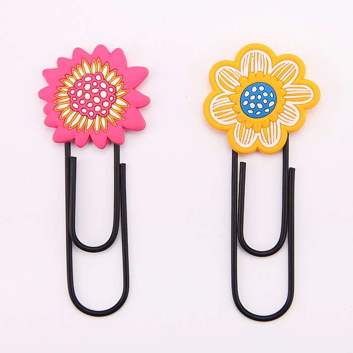 flower shape jumbo pvc bookmark