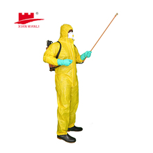TYPE 3 disposable nonwoven coverall with hood against liquid