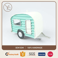 Camping Car Ornament Outdoor Decoration Metal Retro Car Model Metal Handicraft - Home Garden Hotel Party Bar School