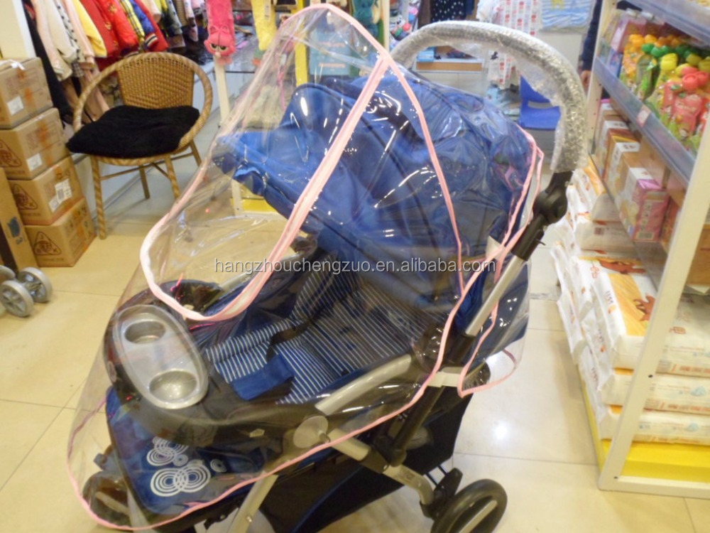Hot Selling transparent PVC Baby stroller rain cover,CZX-078 Warm cover for baby carriage