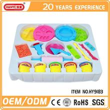 HY-9183 Brand new clay and clay molds for kids, play dough with tool for kid, color peculiary slime jelly