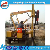 hydraulic piling rotary rig Guardrail installing pile driver for sale