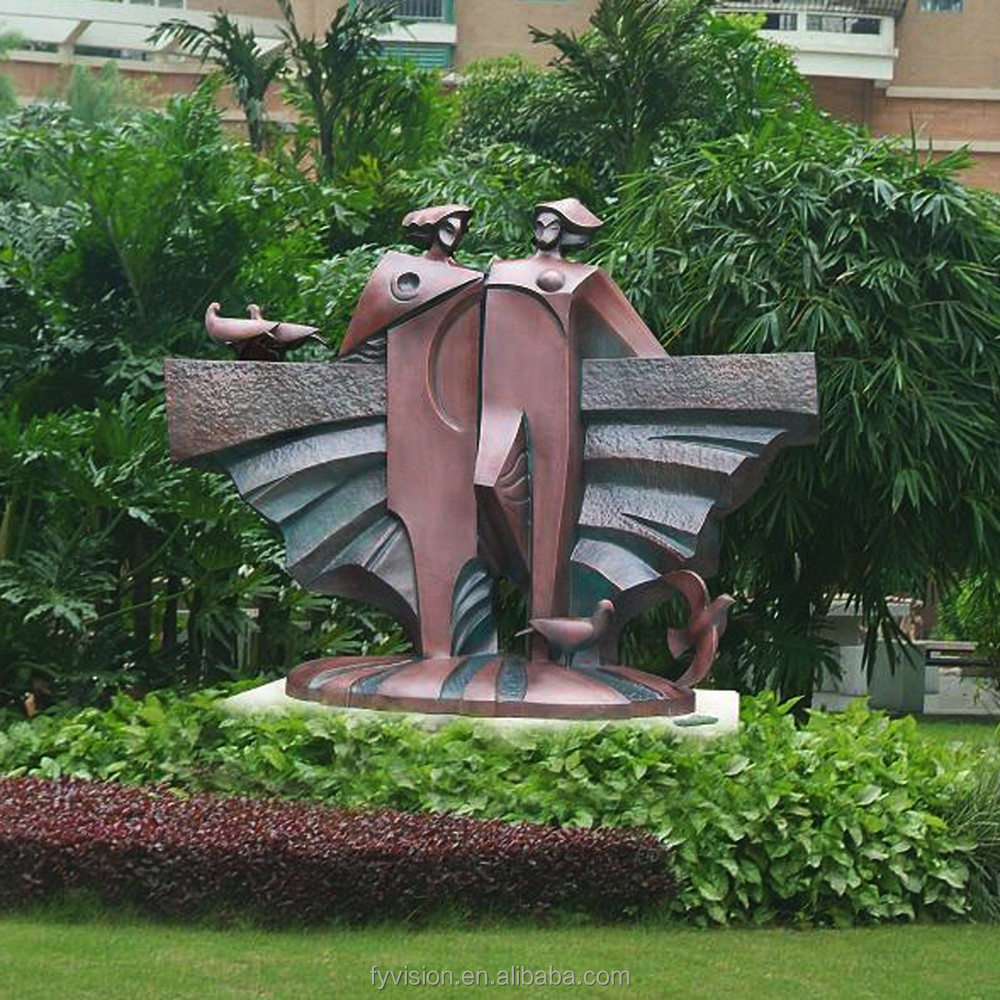 Outdoor bronze garden sculpture