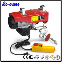 single phase 400kg 800kg rated load mini electric wire rope hoist PA
