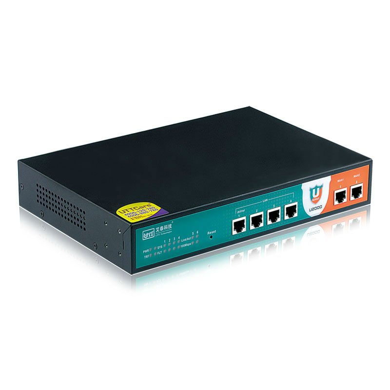 UTT U2000 broadband router for smb network support vpn, QoS, Firewall, PPPoE