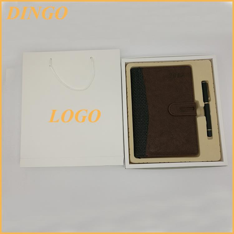high quality promotional recycled paper notebook pen set