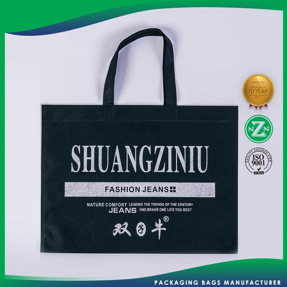 Lightweight Promotional Customization Non Woven Muslin Shopping Recyclable Polyester Tote Bag