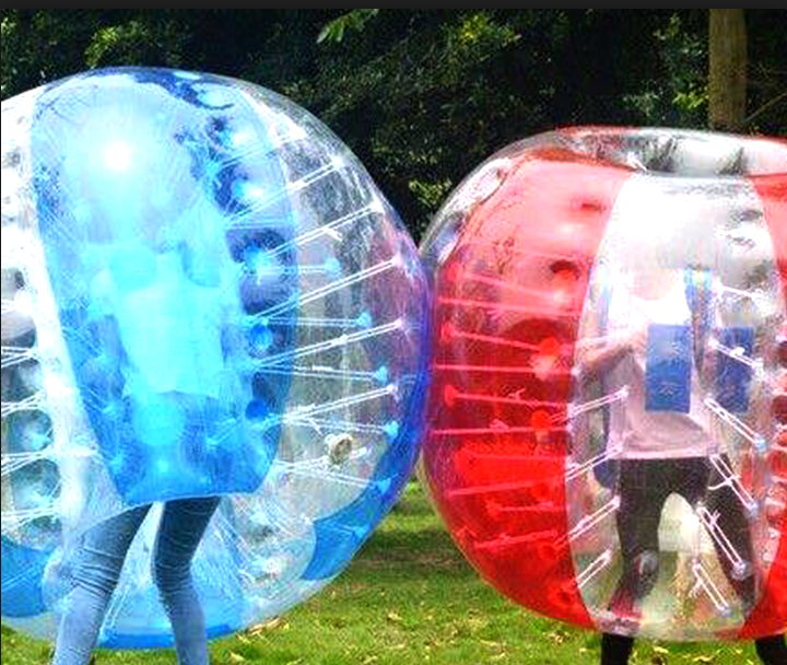 Hot sale giant human size bubble ball suit for soccer game