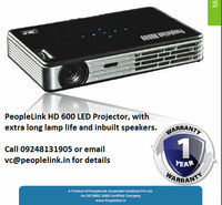 0.47 LCD Panel Size + 30,000 hrs. Lamp life cycle Mini LED projector