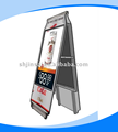 Double side metal advertising display stand