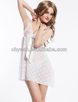 Paypal accept fashion new white short hot babydoll sexy lingerie for fat women