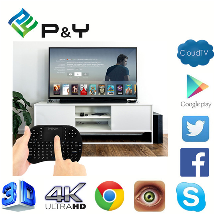 2017 New promotion H9 air mouse for Android TV bluetooth smart keyboard with CE&ISO Wireless remote controll