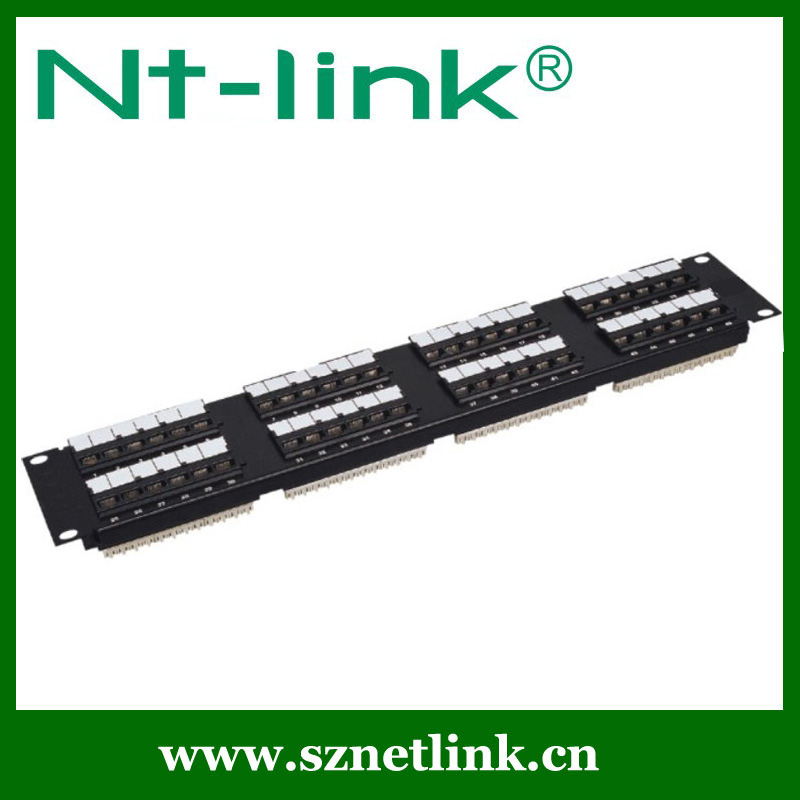 AMP Model Rack Mount 110 IDC 2U 48 Ports Cat5e Patch Panel
