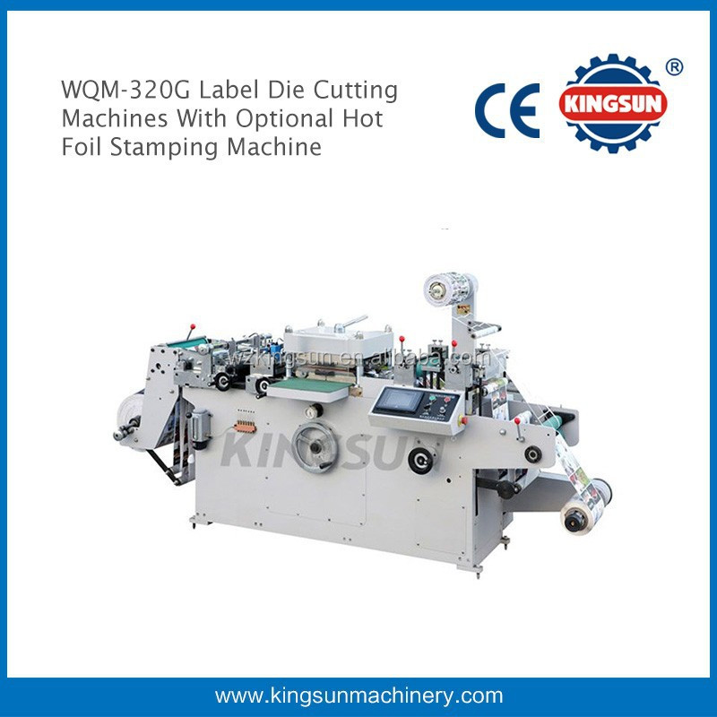 WQM-320G Automatic Label Die Cutting Machines with optional hot foil stamping device