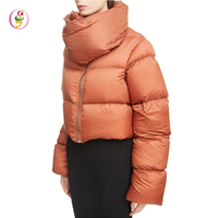 Women 90% Down 10% Feather Down Fill Crop 2018 new ladies down coats thermal short down coats fashion winter down jackets