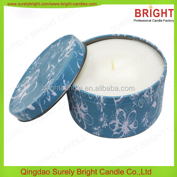 Spa Candles Soy Wax Tin Candles for Spa Use