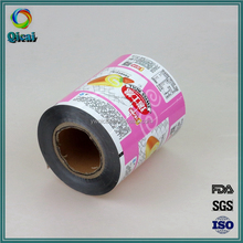 Factory printing logo lamination plastic snack food packing film roll for cake