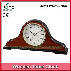 38.5x18cm European mantel style high glossy finish wooden large table clock