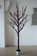 High quantity black dry tree clad the column artificial wedding trees without leaves on strunk
