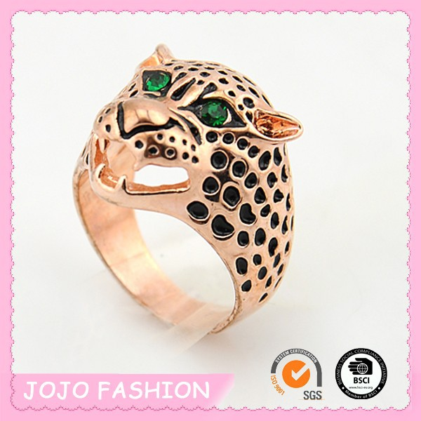 Animal leopard metal ring for kids