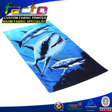 Cheap promotional custom logo 80% polyester 20% polyamide microfiber beach towel