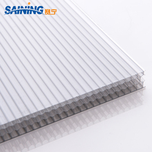 Pc Hollow Flat Sheet Plastic Honeycomb Polycarbonate Panel