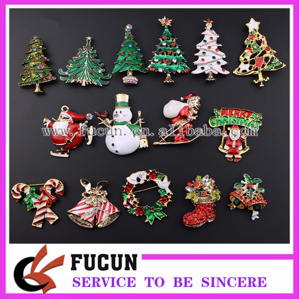 pretty little christmas figurines children stockings shaped brooches pin for christmas party