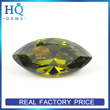 Facets Cubic Zircon Marquise Cut Peridot Beads 925 silver china cz rings