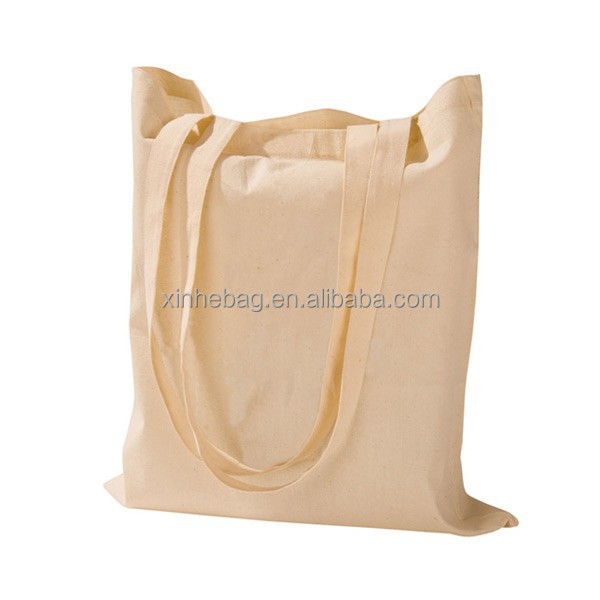 long tote blank calico bag