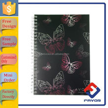 diy plastic pp cover spiral notebook with blank pages and dividers