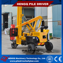 HENGQ Supply Highway Guardrail Installation piling machine crawler solar power pile driver With Diesel Driver System