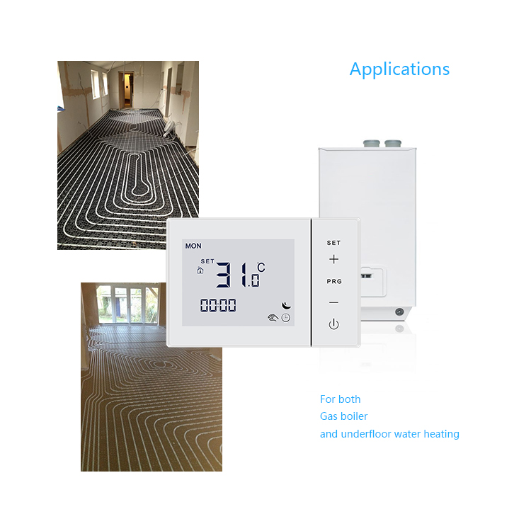 Touch Screen Digital Programmable Boiler Thermostat For Room Heating System