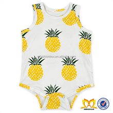 Cute Baby Pineapple Print Rompers Spanish Baby Clothes Unique Baby Names Pictures