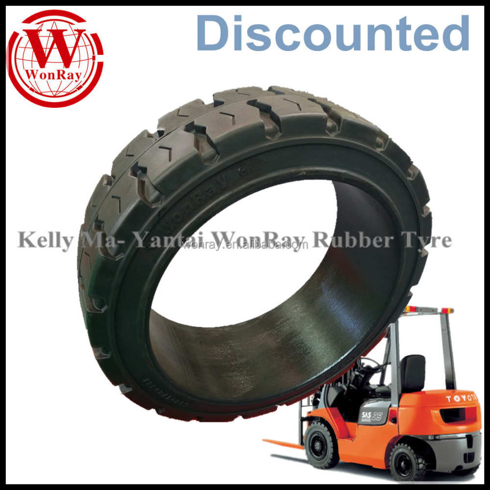 Prices Discounted WonRay 18X7X12-1/8 solid forklift press-on tire traction tires 18712