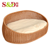 China cheap wholesale exquisite enrivomentally indoor plastic rattan pet products wicker dog house with low price