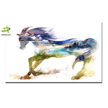 Wall Art Horse Painting Prints on Canvas Abstract Oil Picture For Home Decroation