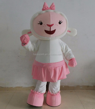 accept Paypal doc mcstuffins character adult size cute lambie mascot costume
