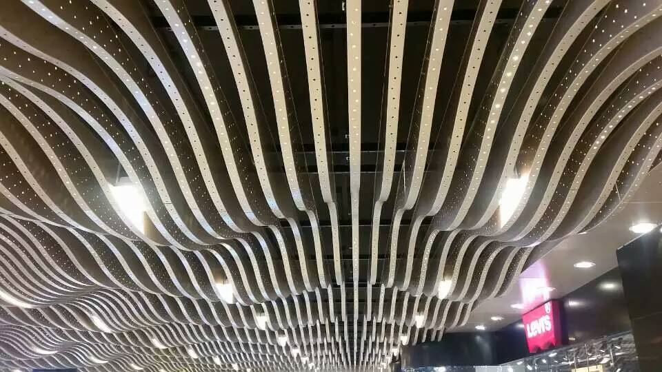 Fireproof suspended acoustic aluminum ceilings baffles