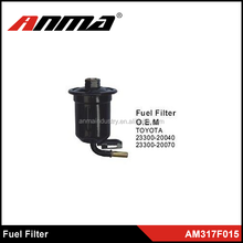 Manufacture high quality metal and plastic fuel filter, black color