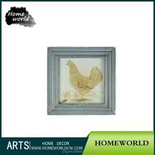 Shabby antique animal design wall hanging picture frame for bedroom