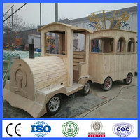 Amusement park equipments trackless train ride in ga