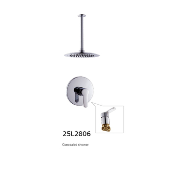 German style waterfall wall mount bath conceal mixer hidden shower set