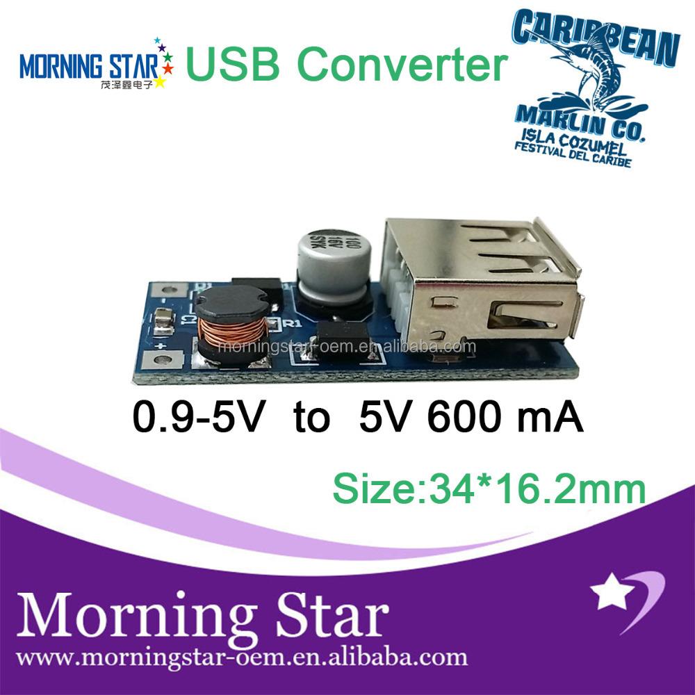 The Smallest Usb Charging Circuit Board 09v 1v 2v 37v 5v 74v 9v Charger To 05a 600ma Dc Step Up Boost Converter Pcb Pcba Buy Power Bank