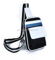 Teenagers Leather Fabeic Sling Bag with Removable Shoulder Strap