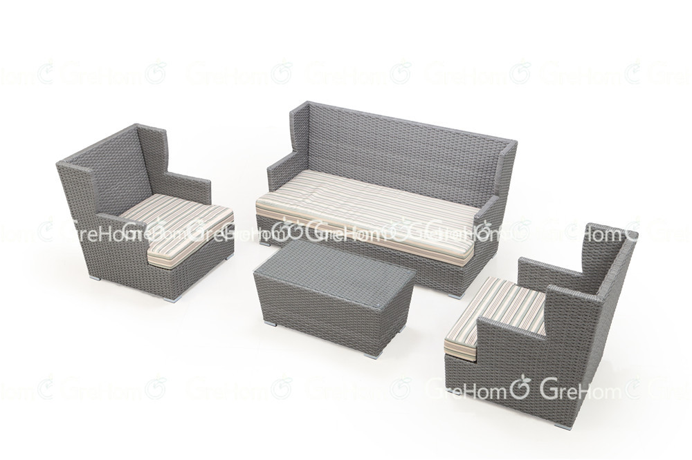 Outdoor rattan wicker furniture sofa sala set buy rattan for Sala set furniture