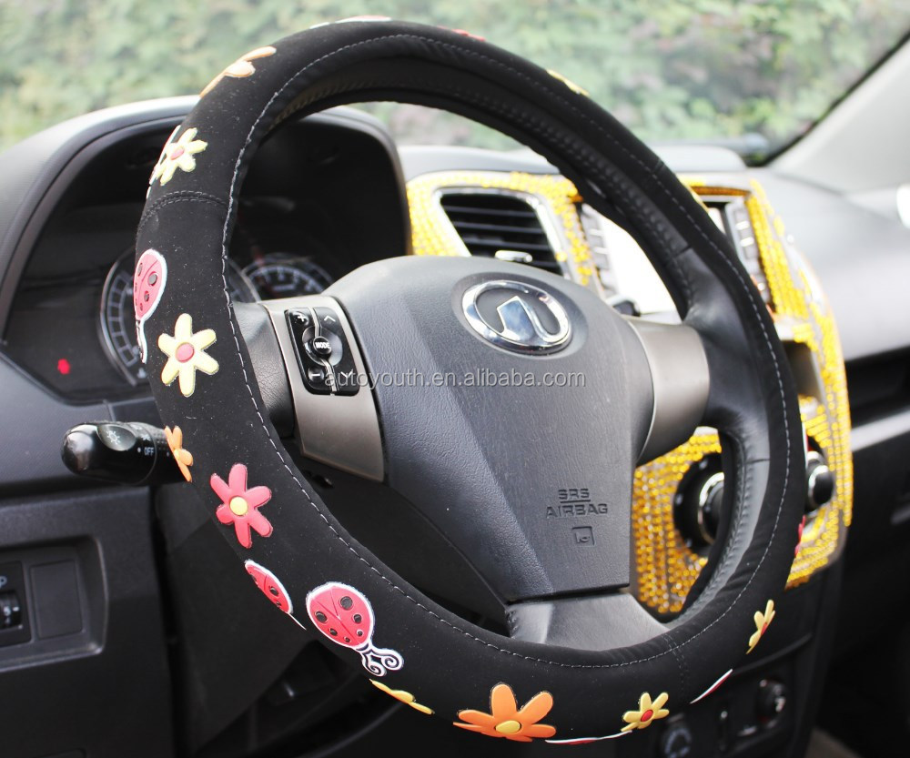 Colorful Lady Taizhou car steering wheel covers factory